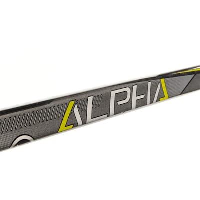 Shaft View (Warrior Alpha QX4 Grip Composite Hockey Stick - Junior)