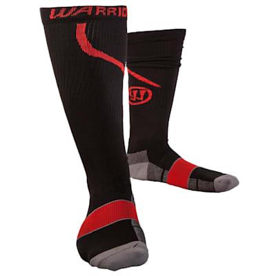 Black/Red (Warrior Compression Pro Skate Socks - Adult)