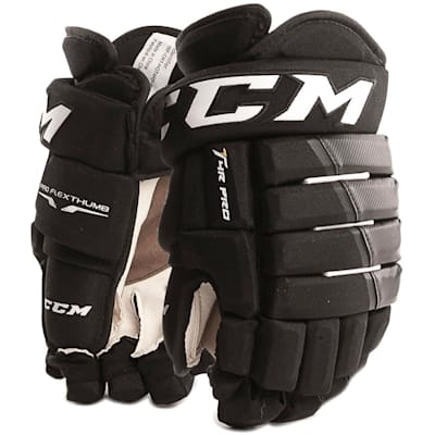 Black/Black (CCM 4R Pro Ice Hockey Gloves - Junior)