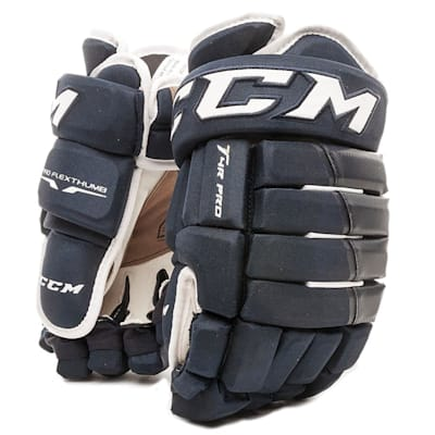 Navy (CCM 4R Pro Ice Hockey Gloves - Junior)