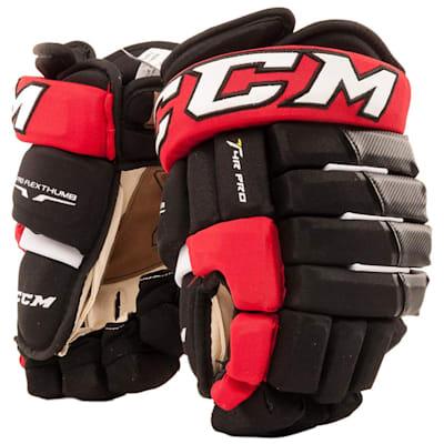 Black/Red (CCM 4R Pro Hockey Gloves - Senior)
