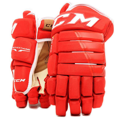 Red (CCM 4R Pro Ice Hockey Gloves - Senior)