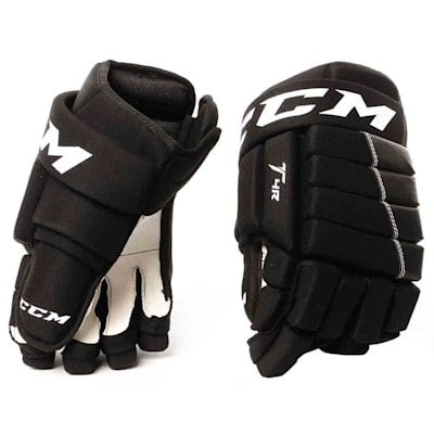Black (CCM 4R Ice Hockey Gloves - 2017 - Youth)