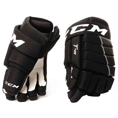 4R Hockey Gloves (2017) - Front View (CCM 4R Ice Hockey Gloves - 2017 - Junior)