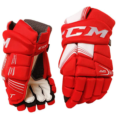 Red (CCM Tacks 7092 Hockey Gloves - Junior)