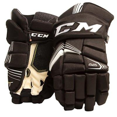 Black/White (CCM Tacks 7092 Ice Hockey Gloves - Senior)