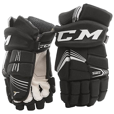 Black (CCM Super Tacks Hockey Gloves - Junior)