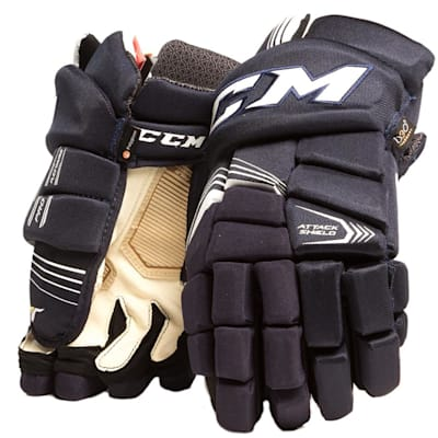 Navy (CCM Super Tacks Hockey Gloves - Junior)