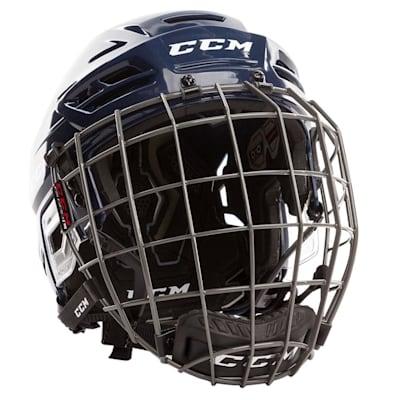 Navy (CCM Tacks 310 Hockey Helmet Combo)