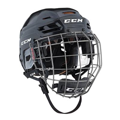 Black (CCM Tacks 710 Hockey Helmet Combo)