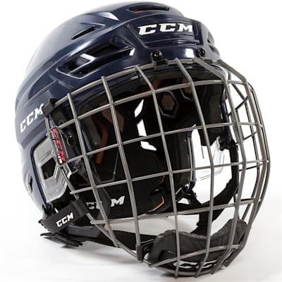 Navy (CCM Tacks 710 Hockey Helmet Combo)