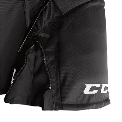 Super Tacks Player Pant (2017) - Zipper View (CCM Super Tacks Hockey Pants - Senior)