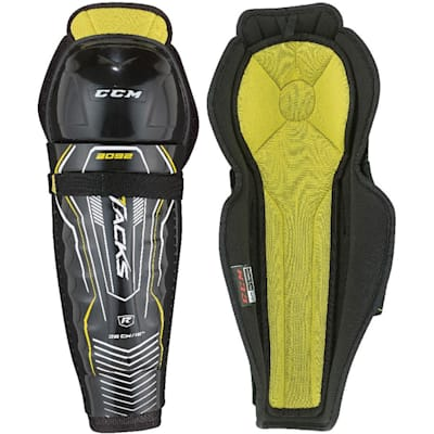 Tacks 3092 Shin Guard (2017) - Front/Inside View (CCM Tacks 3092 Hockey Shin Guards - Junior)