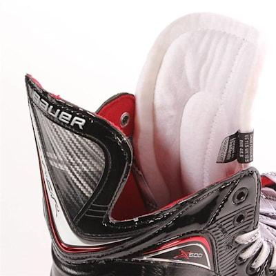S17 Vapor X600 Ice Skate - Tongue Shot (Bauer Vapor X600 Ice Hockey Skates - 2017 - Junior)
