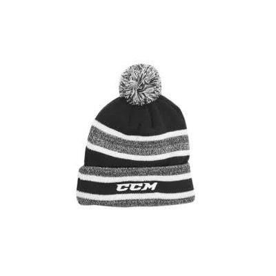 CCM Fleece Pom Knit (CCM C4576 Fleece Pom Hockey Beanie - Adult)