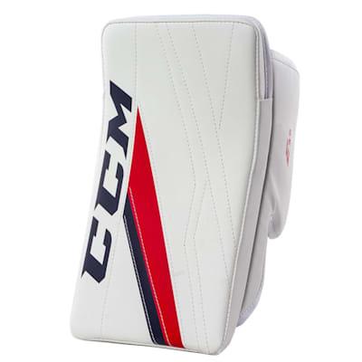 White/Navy/Red (CCM Extreme Flex E3.5 Goalie Blocker - Junior)