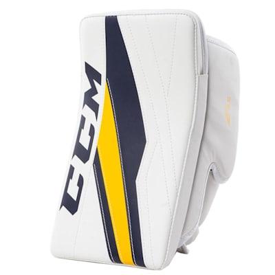 White/Navy/Gold (CCM Extreme Flex E3.5 Goalie Blocker - Junior)