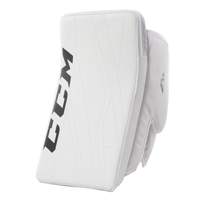 White/White (CCM Extreme Flex E3.5 Goalie Blocker - Junior)