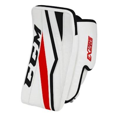 White/Black/Red (CCM Extreme Flex E3.5 Goalie Blocker - Senior)