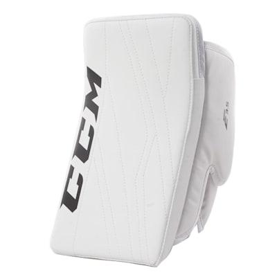 White/White (CCM Extreme Flex E3.5 Goalie Blocker - Senior)
