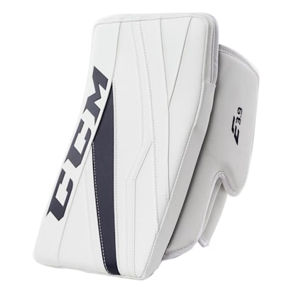 White/Navy (CCM Extreme Flex E3.9 Goalie Blocker - Intermediate)