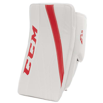 White/Red (CCM Extreme Flex E3.9 Goalie Blocker - Intermediate)