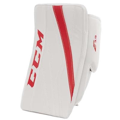 White/Red (CCM Extreme Flex E3.9 Goalie Blocker - Intermediate)