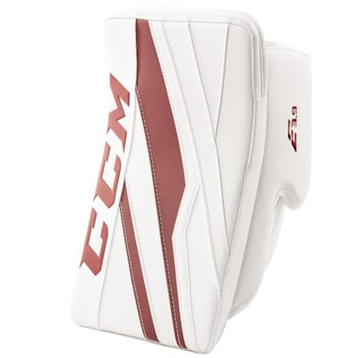 White/Maroon (CCM Extreme Flex E3.9 Goalie Blocker - Senior)