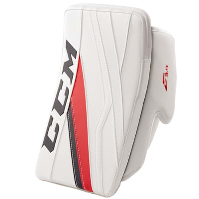 White/Navy/Red (CCM Extreme Flex E3.9 Goalie Blocker - Senior)