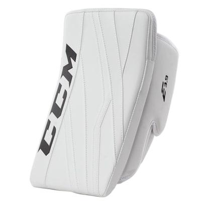 White/White (CCM Extreme Flex E3.9 Goalie Blocker - Senior)
