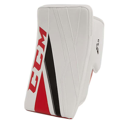 White/Red/Black (CCM Extreme Flex E3.9 Goalie Blocker - Senior)