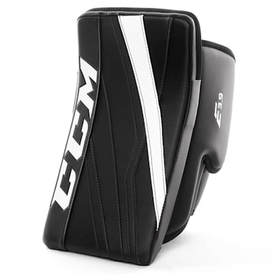 Black/White (CCM Extreme Flex E3.9 Goalie Blocker - Senior)
