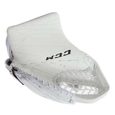 White/White (CCM Extreme Flex E3.5 Goalie Catch Glove - Senior)