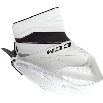 White/Black/Silver (CCM Extreme Flex E3.9 Goalie Catch Glove - Intermediate)