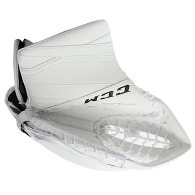 White/White (CCM Extreme Flex E3.9 Goalie Catch Glove - Intermediate)