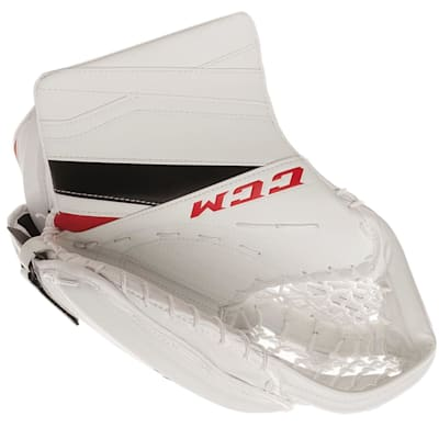 White/Red/Black (CCM Extreme Flex E3.9 Goalie Catch Glove - Intermediate)