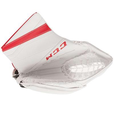 White/Red (CCM Extreme Flex E3.9 Goalie Catch Glove - Intermediate)