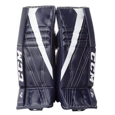 Navy/White (CCM Extreme Flex E3.5 Goalie Leg Pads - Junior)
