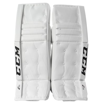 White/White (CCM Extreme Flex E3.5 Hockey Goalie Leg Pads - Junior)