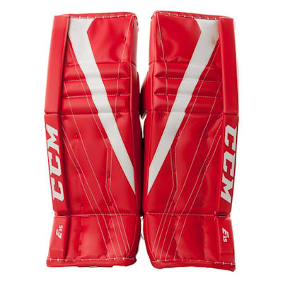 Red/White (CCM Extreme Flex E3.5 Hockey Goalie Leg Pads - Junior)