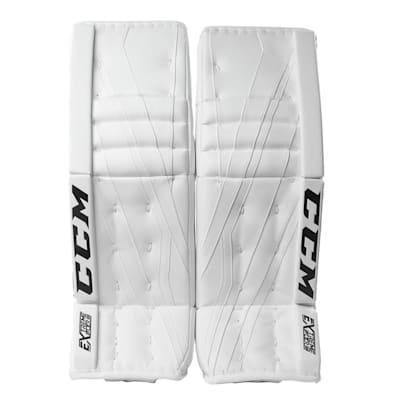 White/White (CCM Extreme Flex III Goalie Leg Pads - Senior)