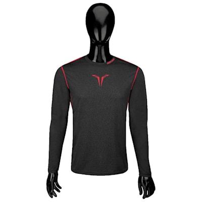Bauer Core Long Sleeve Top (Bauer Core Long Sleeve Hybrid Hockey Shirt - 2017 - Youth)