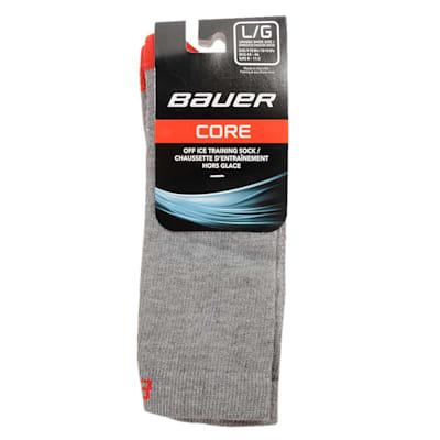 Grey (Bauer Core Mid Calf Hockey Socks - 2017 - Adult)