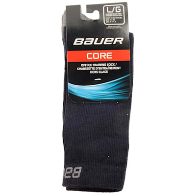 Navy (Bauer Core Mid Calf Hockey Socks - 2017 - Adult)