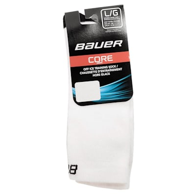White (Bauer Core Mid Calf Hockey Socks - 2017 - Adult)