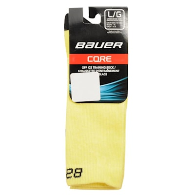 Yellow (Bauer Core Mid Calf Hockey Socks - 2017 - Adult)