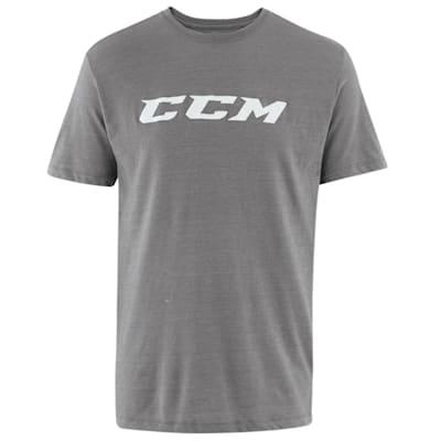 Dark Grey Heather (CCM Core Tri Blend Short Sleeve Hockey Shirt - Youth)