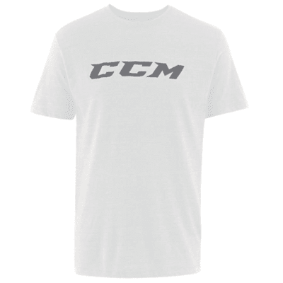 White (CCM Core Tri Blend Short Sleeve Hockey Shirt - Adult)