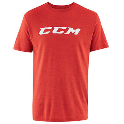 Red Heather (CCM Core Tri Blend Short Sleeve Hockey Shirt - Adult)