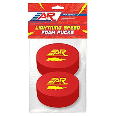 A&R Lightning Speed Foam Puck 2Pk (A&R Lightning Speed Foam Hockey Puck - 2 Pack)